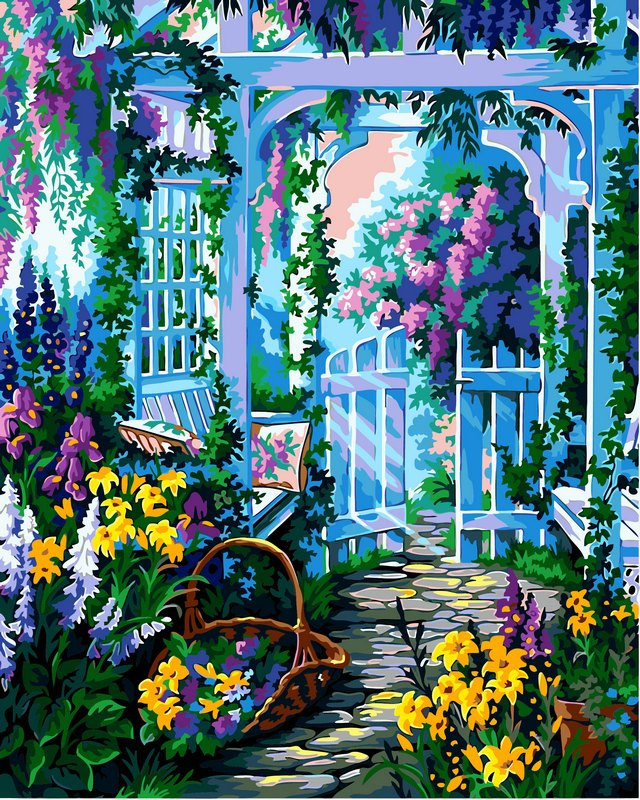 Картина по номерам 40×50 см. Babylon Сиреневый сад (VP-426)