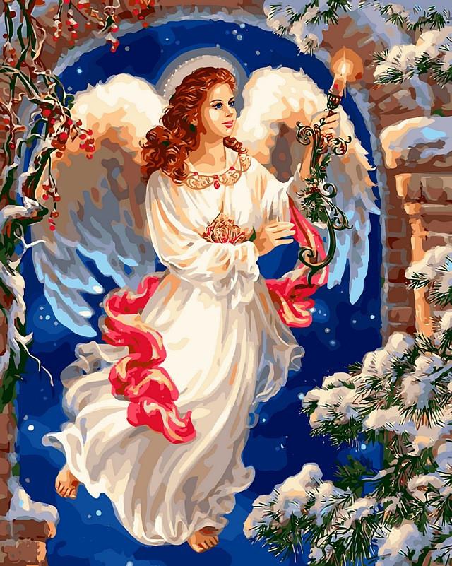 Картина по номерам 40×50 см. Babylon Рождественский ангел Художник Гелсингер Дона (VP 440)
