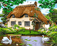 Картина по номерам 40×50 см. Babylon Сельский домик Художник Робинсон Говард (VP 476)