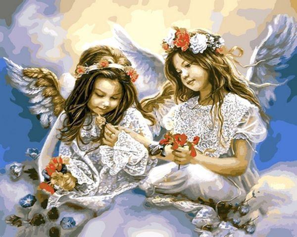 Картина по номерам 40×50 см. Babylon Подарок от Ангела (VP 630)