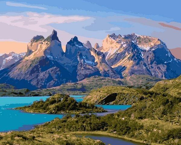 Картина по номерам 40×50 см. Babylon Торрес-дель-Пайне Патагония Чили (VP 650)
