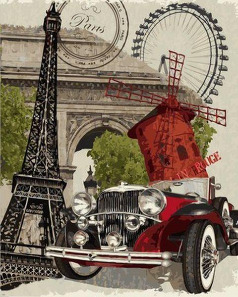 Картина по номерам 40×50 см. Babylon Париж (VP 689)