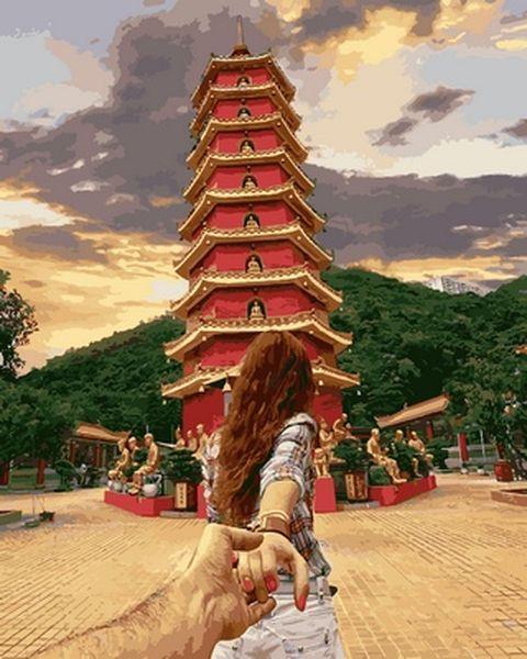 Картина по номерам 40×50 см. Babylon Cледуй за мной Гонконг Фотохудожник Мурад Османн (VP 715)