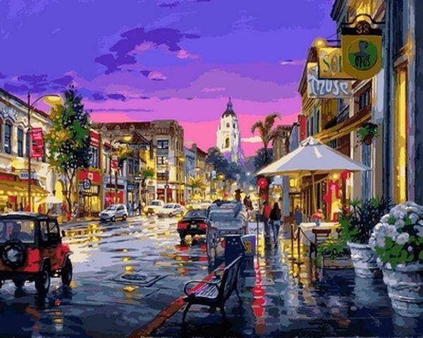 Картина по номерам 40×50 см. Babylon После дождя Художник Цао Йен (VP 728)