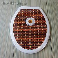 Крышка на унитаз с рисунком Ромашка