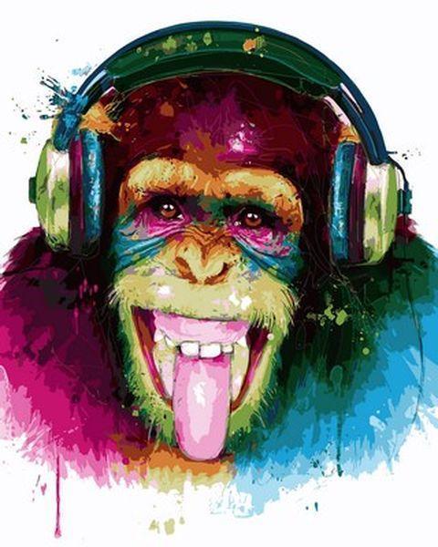 Картина по номерам 40×50 см. Babylon DJ Monkey Художник Патрис Мурчиано (VP 753)