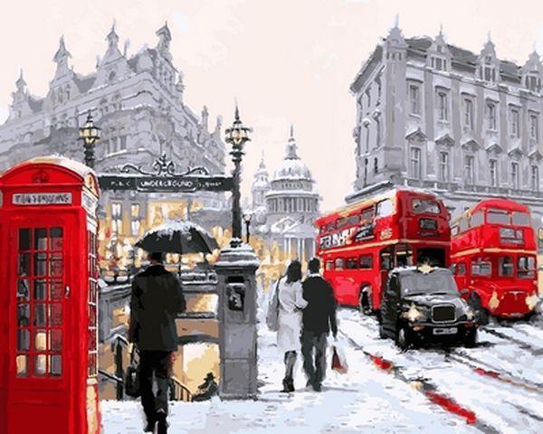 Картина по номерам 40×50 см. Babylon Собор Святого Павла - Лондон Художник Ричард Макнейл (VP 764)