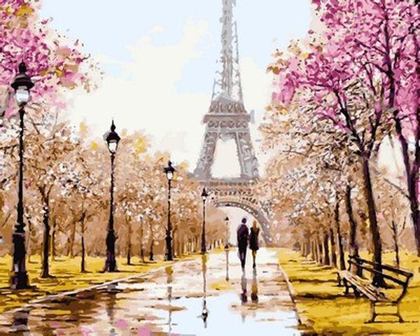 Картина по номерам 40×50 см. Babylon Париж для двоих Художник Ричард Макнейл (VP 768)