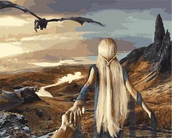 Картина по номерам 40×50 см. Babylon Следуй за мной во вселенную Игры Престолов Фотохудожник Мурад Османн (VP 837)