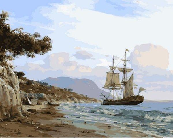 Картина по номерам 40×50 см. Babylon Высадка на берег Художник Валерий Черненко (VP 854)