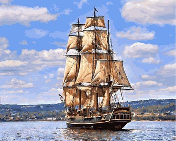 Картина по номерам 40×50 см. Babylon Вооружённое судно Его Величества «Баунти» (VP885)