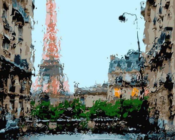 Картина по номерам 40×50 см. Babylon Дождливая погода Франция Фотохудожник Кристоф Жакро (VP 950)