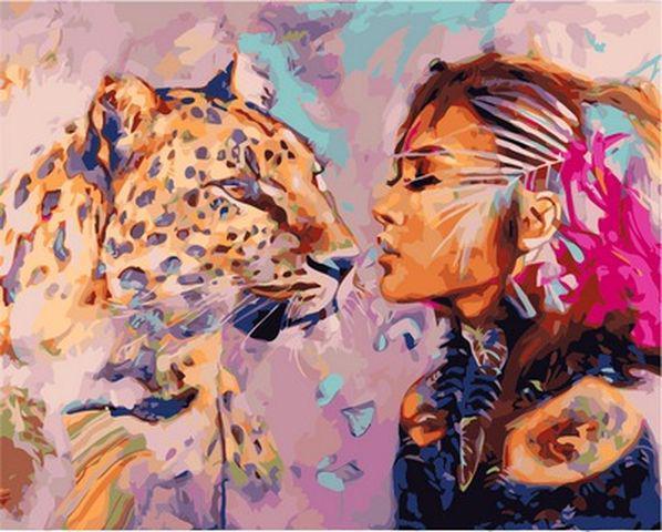 Картина по номерам 40×50 см. Babylon Искательский поцелуй Художник Димитра Милан (VP 968)