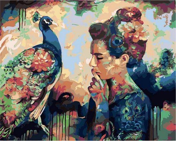 Картина по номерам 40×50 см. Babylon Мысли о красоте Художник Димитра Милан (VP 980)