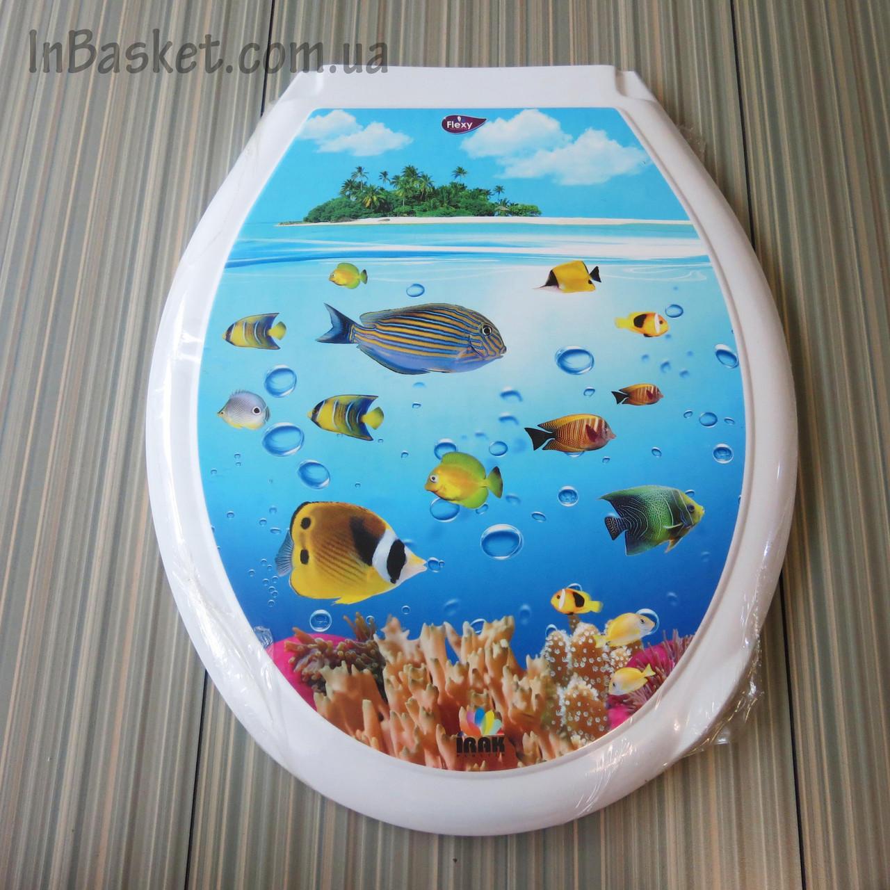 Крышка на унитаз с рисунком Океан