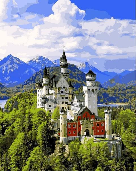 Картина по номерам 40×50 см. Babylon Замок Нойшванштайн Германия (VP 1095)