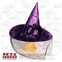 "Шляпа ""Колдунья"" фиолетовая на Хэллоуин"