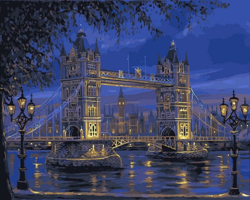 Картина по номерам 50×65 см. Babylon Тауэрский мост Художник Роберт Файнэл (VPS 049)