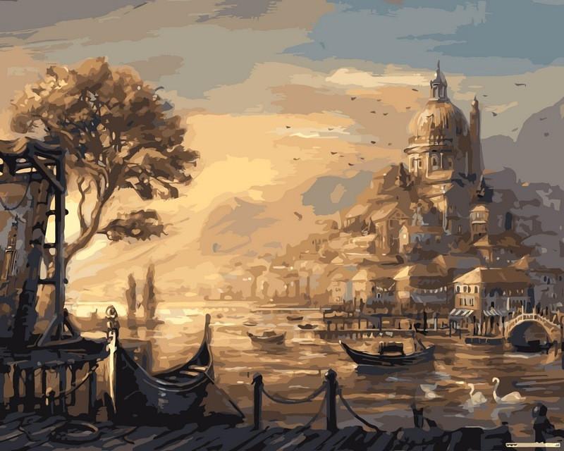 Картина по номерам 50×65 см. Babylon Вечерняя Венеция (VPS 051)