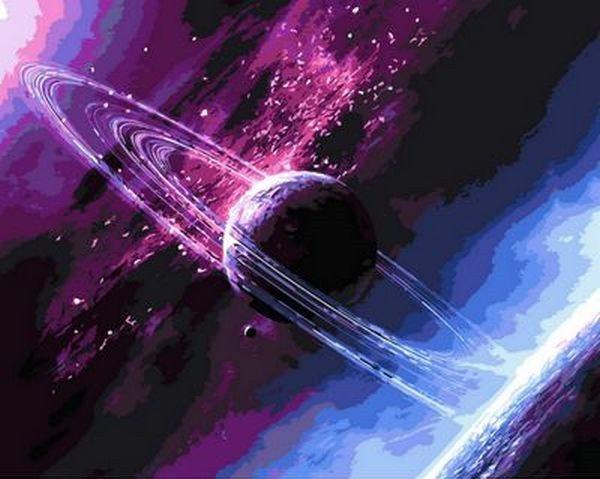 Картина по номерам 50×65 см. Babylon Сквозь вселенную (QS 792)