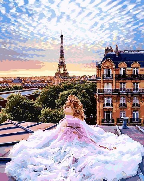 Картина по номерам 50×65 см. Babylon Утро в Париже Вера Брежнева Фотохудожник Кристина Макеева (VPS 1013)