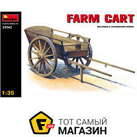 Модель 1:35 гужевой транспорт - Miniart - Farm Cart (MA35542) пластмасса