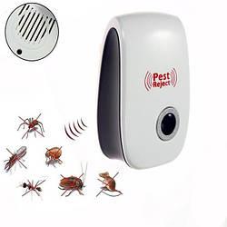 Отпугиватель насекомых и грызунов Pest Reject NEW (ЭМ волны + ультразвук)