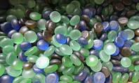 Стеклянные  камни для декора