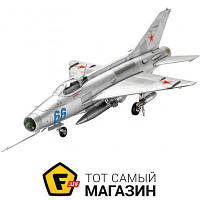 Модель 1:72 самолеты - Revell - MiG-21 F-13 Fishbed C, 1:72 (RV63967) пластмасса