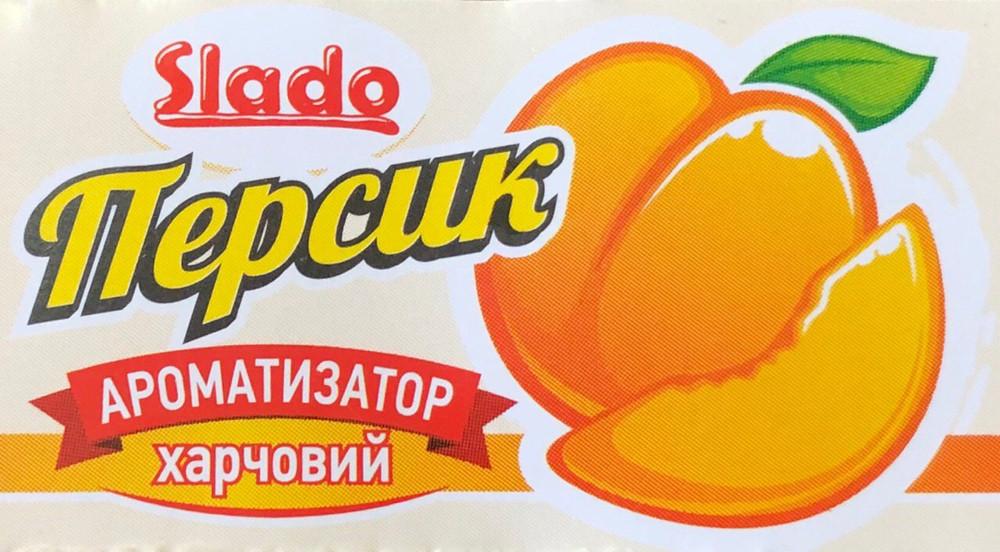 """Ароматизатор """"SLADO"""" харчовий """"Персик"""" 5 мл"""