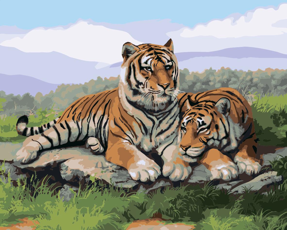 Картина по номерам Идейка После охоты 40*50 см (без коробки) арт.KHO2484