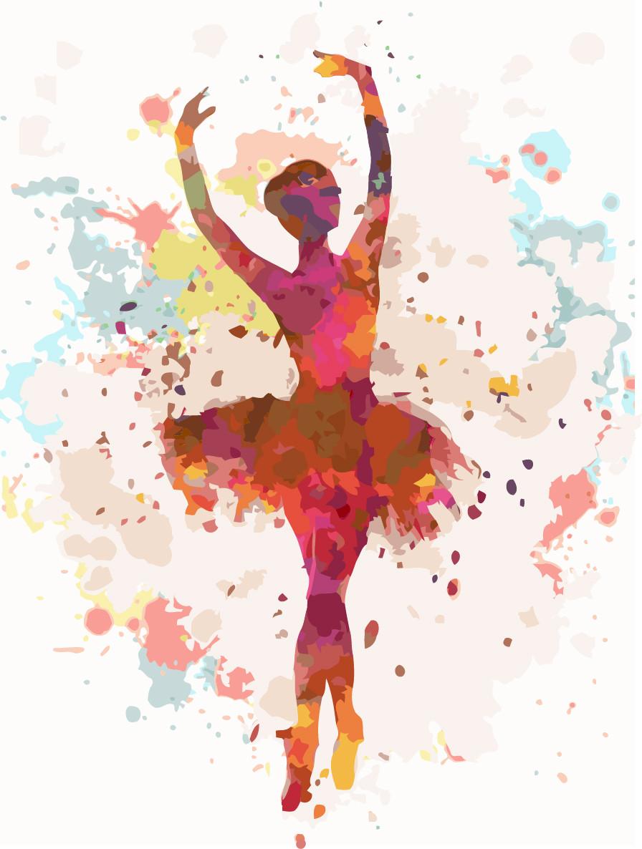 Картина за номерами Ідейка Балерина 30*40 см арт.KHO2672