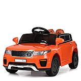 Детский электромобиль Land Rover Ленд Ровер M 5396EBLR-7 оранжевый для детей от 3 до 6 лет., фото 2