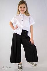Блуза школьная, рубашка с завязками по спинке Albero 5091 Размеры 128- 158