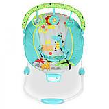 Детский напольный музыкальный шезлонг-баунсер для детей, Mastela сине-зеленый .Дитяче крісло качалка, фото 3