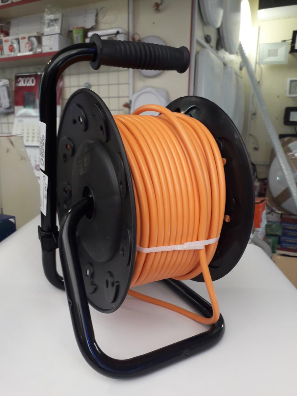 Удлинитель на катушке 30м 3х1,5 мм² ПВС 4 розетки SVITTEX с термозащитой