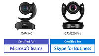 Сертифицированные камеры для Microsoft Teams и Skype or Business от компании Aver