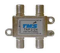 Ответвитель абонентский TAP 2/24 TMS (два выход -24дБ, проходной выход)
