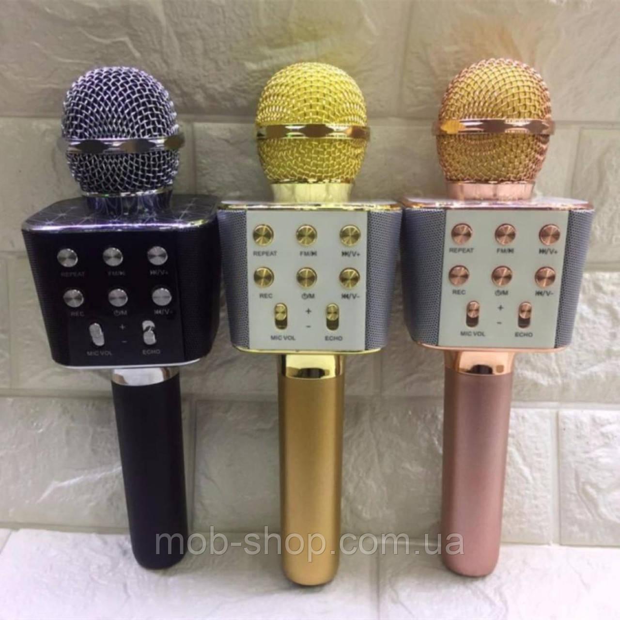 Микрофон для караоке Wster WS-1688 Bluetooth USB с динамиками