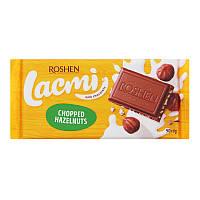 Шоколад Рошен Lacmi Молочный с дроблеными лесными орехами , 90 г