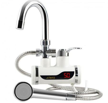 Бойлер кран цифровий і душ водонагрівач Delimano електричний з екраном нижнє, фото 2