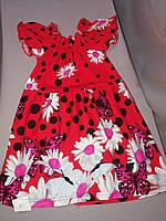 Лёгкое трикотажное платье для девочки  64  размер