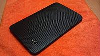 Декоративная защитная пленка для планшета Samsung Galaxy Tab 7 карбон кубик черный, фото 1