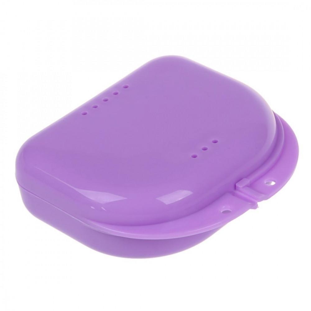 Коробка для ортодонтичних та ортопедичних констр. з отворами T-B-7 фіолетова