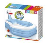 Детский надувной бассейн Intex 57183, 257 х 188 х 130 см (с баскетбольным кольцом), фото 4