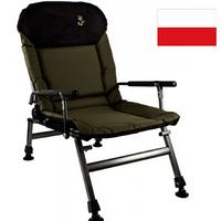 Кресло карповое Elektrostatyk FK5 усиленное с подлокотниками и регулируемой спинкой (до 150 кг)
