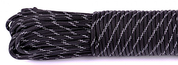 Paracord Type III 550 black #r3016 светоотраж