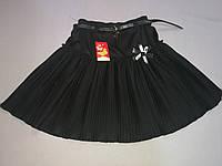 Чёрная  юбка плиссе для девочки 140 рост, фото 1