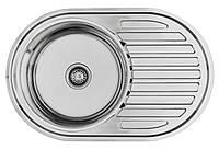 Кухонная мойка Lemax нерж. сталь хром LE-5003 CH + сифон (LE-5003 CH)