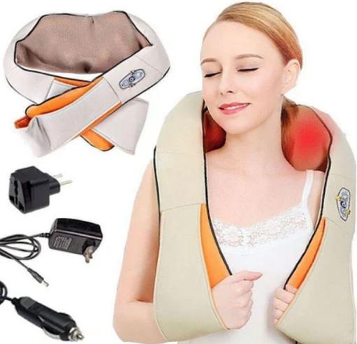Массажер 888 Pro Massager of Neck Kneading Роликовый для шеи и спины Pro ZV